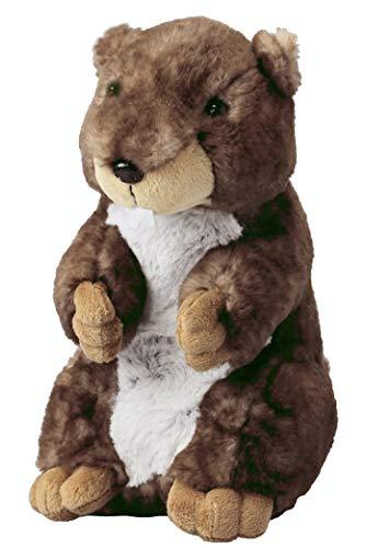 Inware 7582 - Kuscheltier Murmeltier Marmie, braun/meliert, 15 cm, stehend, Schmusetier