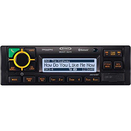 JENSEN JHD1635BT Heavy Duty AM/FM/RBDS/WB/USB/AUX-IN/BT/iPod & iPhone ready/Sirius XM Ready Bluetooth Stereo Radio, 12V DC