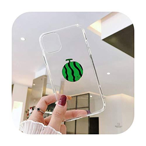 Linda historieta fruta sandía animal ballena teléfono caso transparente para iPhone 11 12 mini pro XS MAX 8 7 6 6S Plus X 5S SE 2020 XR-a3-iPhoneX o XS