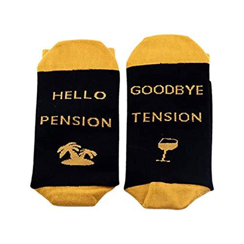 "TeemorShop Meias divertidas com dizeres ""Dear Santa Hellow"", letras de pensão estampadas, meias de presente, Amarelo, Yellow"