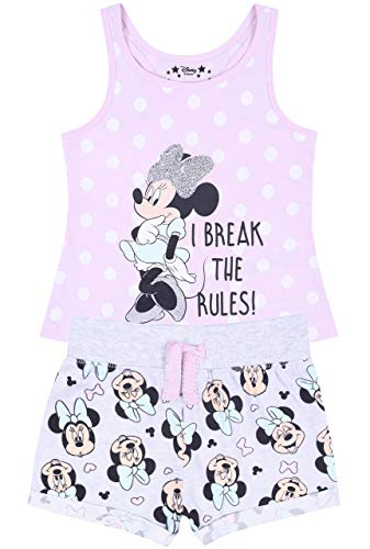 -:- Minnie Mouse -:- Disney -:- Pijama de Color Rosa y Gris para niñas