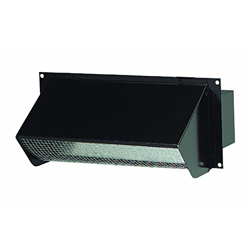 Broan Black 639 Wall Cap for 3-1/4 x 10 Duct for Range Hoods and Bath Ventilation Fans
