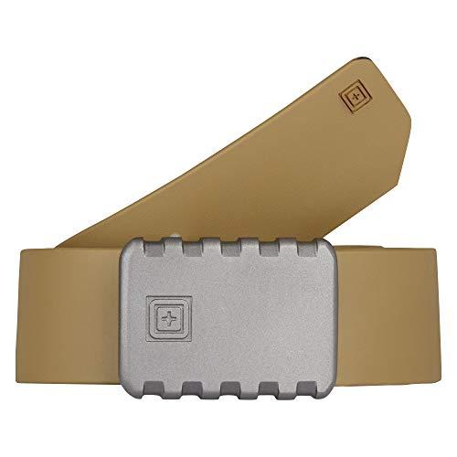 5.11 Tactical 1.5-Inch Apex T-Rail Belt, Ergonomic Curve, Cast Aluminum Buckle, Sandstone, 4X-Large, Style 59504