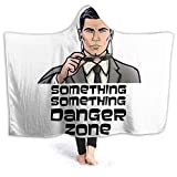 Manta con Capucha Something Danger Zone Manta Ultra Suave con Capucha 60'' x50 Capa para Adultos Capa Adecuado para Jugar