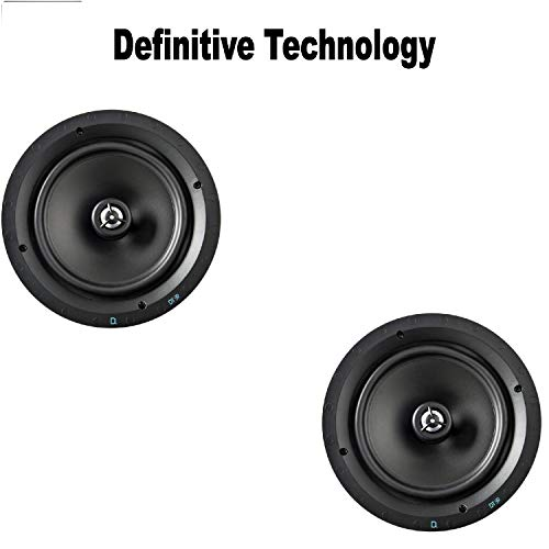 Pair of Definitive Technology DT Series DT8R in-Ceiling Speaker Bundle