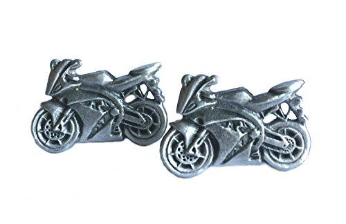 Gemelos de moto hechos a mano en Inglaterra.