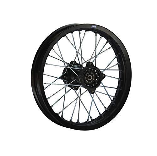 Hmparts Aluminio Llanta Anodizado 14 Pulgadas Trasero Negro 15mm Typ2 Pit Bike Dirt Bici Cross