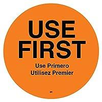 "DayMark Safety Systems IT110358 DuraMark""USE FIRST"" 永久サークルラベル 2インチ"