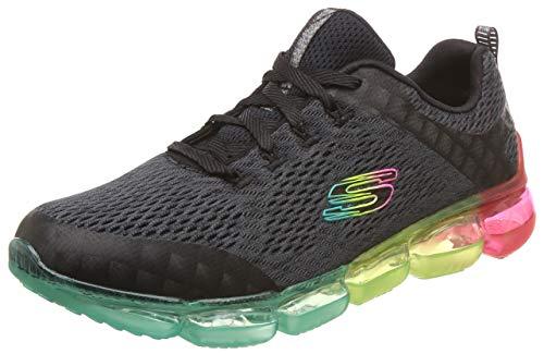 Skechers Women's Skech-AIR Endeavour Sneaker, Black/Multi, 5 M US