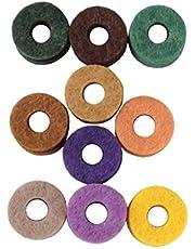 KESOTO 20x Juego de Batería Fieltro de Platillos Arandelas Almohadillas Reemplazo de Instrumentos de Percusión