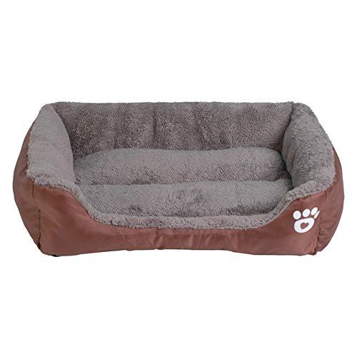 LJXX Pet House 9 Farbe Pet Sofa Hundebett wasserdichte Unterseite Weiche Wolle Warme Katze Bett House XL Kaffee
