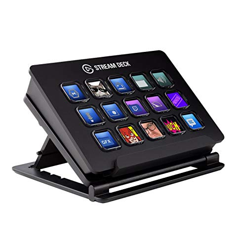 Elgato Stream Deck–Custom A 15Pack of LCD Key with Live Content Create Controller (Authorized Distributor, 1Year Manufacturer Warranty)