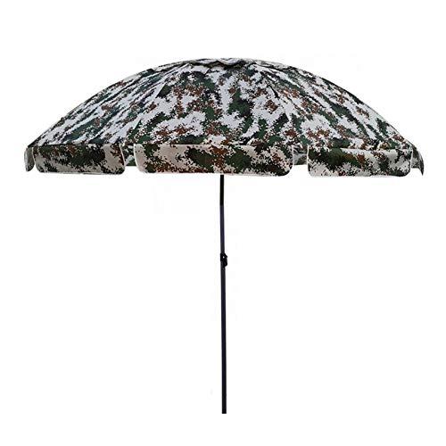 Sombrilla Terraza Parasol Jardin Camuflaje Verde Sombrilla de Patio, 2,8 M / 9 Pies Camping de Viaje Parasol Sunbrella Portátil con Fringe, para Exterior/Césped