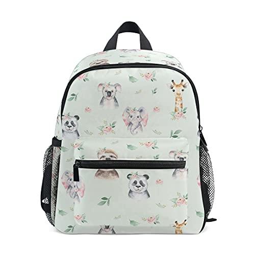 Mini School Backpack College Bag Kids Bookbag for Boys Girls 00 Baby Elephant Panda Koala Animal Print