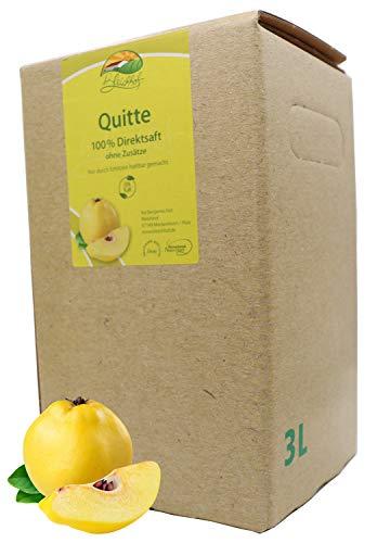 Bleichhof Quittensaft - 100% Direktsaft ohne Zusätze, Bag-in-Box Verpackung mit Zapfsystem (1x 3l Saftbox)
