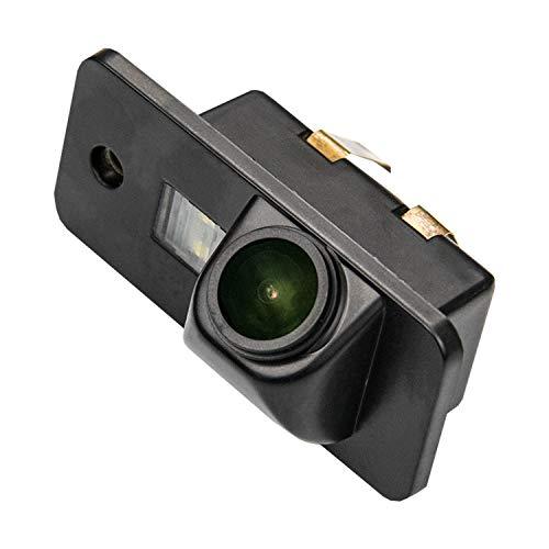Cámara de marcha atrás mejorada de 1280 x 720p integrada en la luz de la matrícula de la matrícula cámara de visión trasera para Audi A3 8P 8V S3 A4 B6 B7 B8 S4 A6 C6 S6 RS6 A8 RS4 TT 8N Q3 Q5 Q7