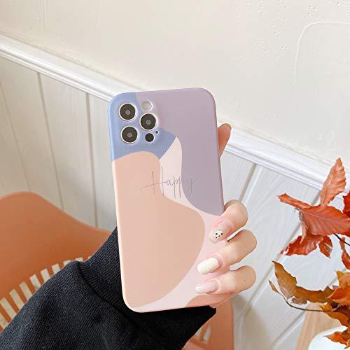EYZUTAK Morandi - Carcasa para iPhone 7, iPhone 8, iPhone SE 2020, de silicona suave y TPU (poliuretano termoplástico)