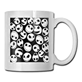Taza de cerámica blanca Taza de café brillante Taza de bebida Oficina Regalo divertido 11.6oz (330ml) Jack Skellington...