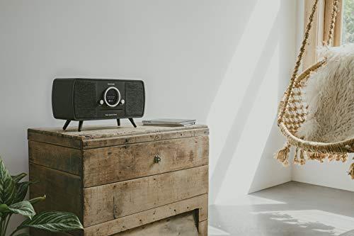 Tivoli Audio (Tipo de colección) Music System Home–All-in-One Dab +/FM Minicadena con tecnología inalámbrica Wi-Fi y Bluetooth–Black Ash/Black