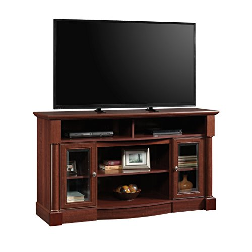 Sauder Palladia Entertainment/Fireplace Credenza, For TV's up to 60', Select Cherry finish
