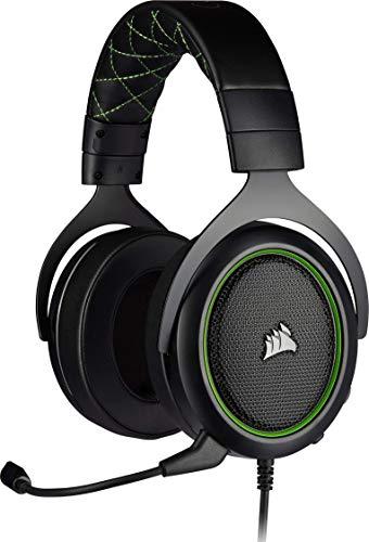 Corsair HS50 Pro Stereo Auriculares para Juegos (Ajustables Espuma viscoelástica...
