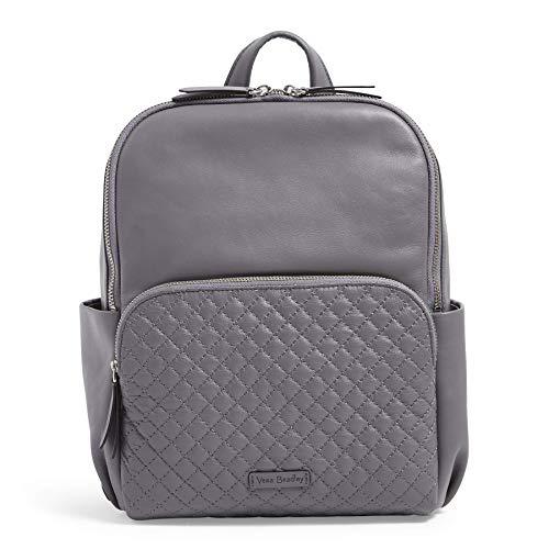 Vera Bradley Leather Carryall Backpack, Storm Cloud
