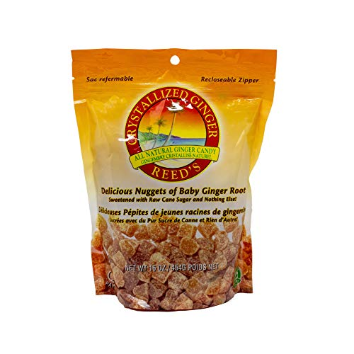 Reed's, Crystallized Ginger, All Natural Baby Ginger Root Sweetened with Raw Cane Sugar (16 OZ)