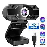 HLDUYIN Webcam, Cámara Web De Alta Definición 1080P, Cámara Web USB del Ordenador Portátil De La Tableta para Conferencias, Juegos, Clases En Línea