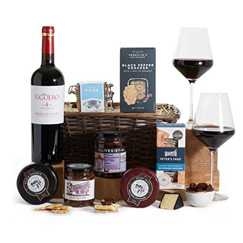 Luxury Wine, Cheese & Pork Rillette Hamper - Hampers and Gift Baskets - Wine Hampers - Cheese Hamper