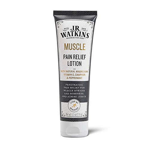 J.R. Watkins Muscle Pain Relief Lotion, Camphor & Natural Magnesium Relief for Sore Muscles and Aching Joints, 4.1oz