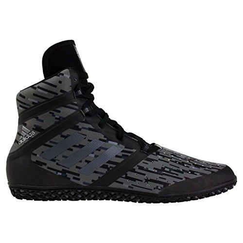adidas Impact Men's Wrestling Shoes, Black Digital Print, Size 9.5