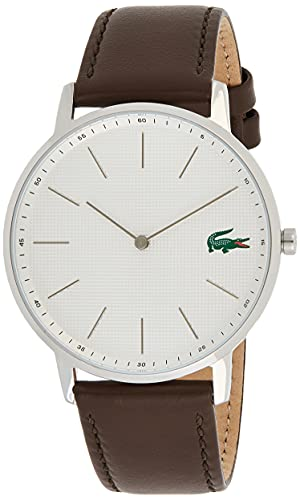 Lacoste Herren Analog Quarz Uhr mit Leder Armband 2011002