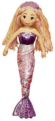 YT Toys C6492–4545cm Anna Mermaid Stoffpuppe