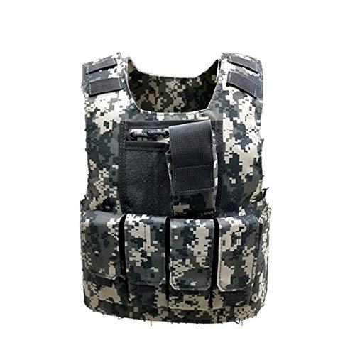 Uniformes de Camuflaje Chalecos Ejército niños Soldado Militares Los Hijos de Combate de Las Fuerzas Especiales de la Armadura Cosplay Waistcoat (Color : Color2, Size : S)