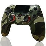 Mando PS4 Inalámbrico, BMSARE Bluetooth PS4 Game Mandos Gamepad Joystick para PS4 Pro/Slim con 6 Axis Gyro Sensor y Dual Shock Vibración, Audio Micrófono y Touch Panel Camuflaje