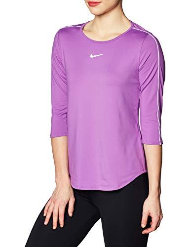 Nike Damen W NKCT TOP 3QT Trikot, Nebula Morado/Blanco, M