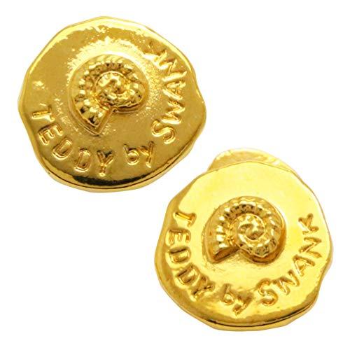 アンモナイト 化石 ゴールド カフス カフスボタン カフリンクス n02610