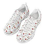 Qingeng Scarpe da ginnastica da donna, uomo, palestra, sport, camminate, scarpe da ginnastica antiscivolo, (Bianco Cartone Animato Medico), 43.5 EU