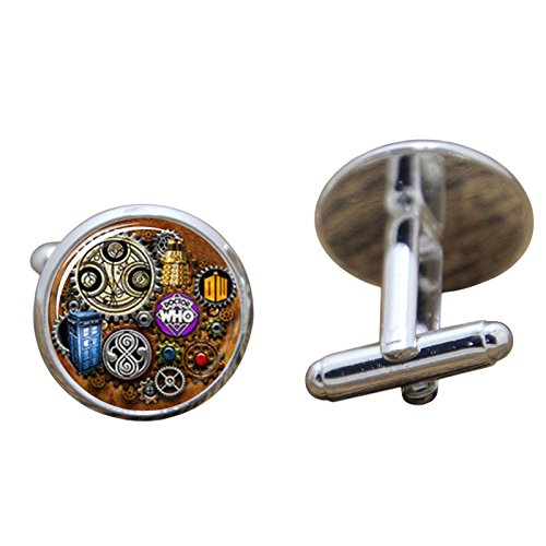 Dr Who Steampunk Cosplay Cufflinks Boutons de Manchette