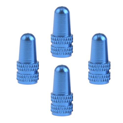 Ruifu 4x Tapones de válvula de Bicicleta de Carretera CNC Aluminio, Azul