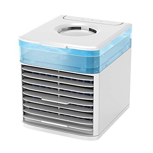 WPF ZJH Tragbarer Luftkühler, Klimaanlage Luftbefeuchter, Mini-Desktop-Fan, Geeignet for Home Office Zimmer Außen