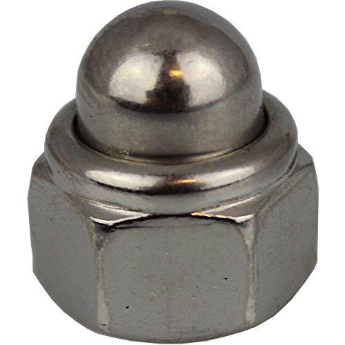 1 Stück Hutmutter M12 selbstsichernd mit nichtmetallischem Klemmteil DIN 986 Edelstahl A2