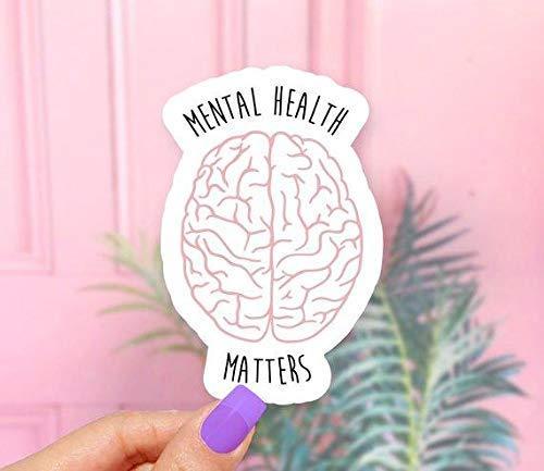 Mental Health Matters Brain Vinyl Sticker for Laptops, Windows and Water Bottles