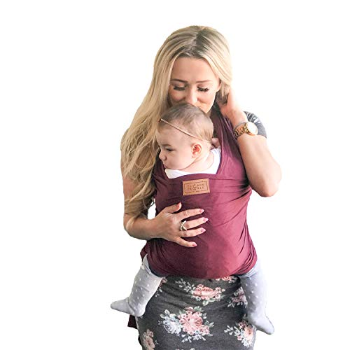 Tuck and Bundle - Lightweight Baby Wrap Carrier - Slate Grey - Best Baby Wrap for Newborns 0-15 Months (0-25 lbs) - Comfortable, Simple, and Hands-Free Babywearing Wraps Made of 100% Micromodal