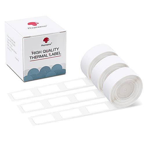 Phomemo D30 Klebeetiketten Weißes 12x20mm Druckpapierband für D30 Bluetooth Tragbarer Etikettendrucker