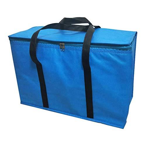 qwe XISABCS El Almuerzo Bolsa Aislante Fiambrera, Reutilizable del Bolso del Almuerzo, Fugas Enfriador Prueba el Almuerzo Bolsa Resistente al Agua Azul