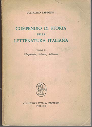 Compendio di storia della letteratura italiana vol. 2