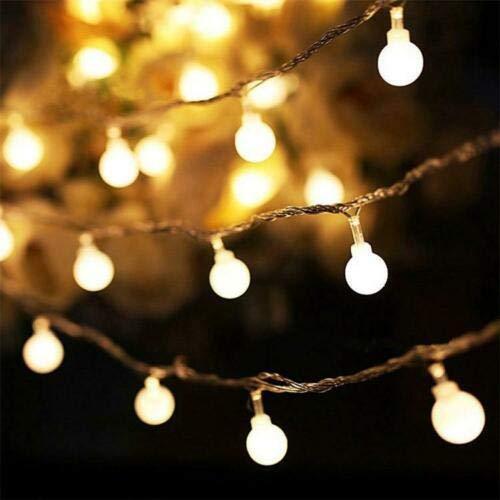 PiuShopping Catena Luminosa per Esterno, 10 metri da Giardino con Stringa Trasparente, 100 lampadine da parete per decorazioni