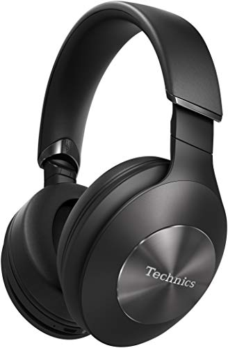 Technics EAH-F70N, Auriculares inalámbricos (Bluetooth, cancelación de ruido, 3 modos, 40mm CPF, Hi-Res Audio, LDAC, asistente de voz, batería 20h, plegable) Talla Única, Negro