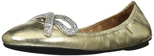 Marc Jacobs Damen Bow Flat Willa Strass Schleife Ballerina Flach, Gold, 37 EU
